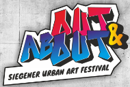 "Logo des Siegener Urban Art Festival ""Out and About"""